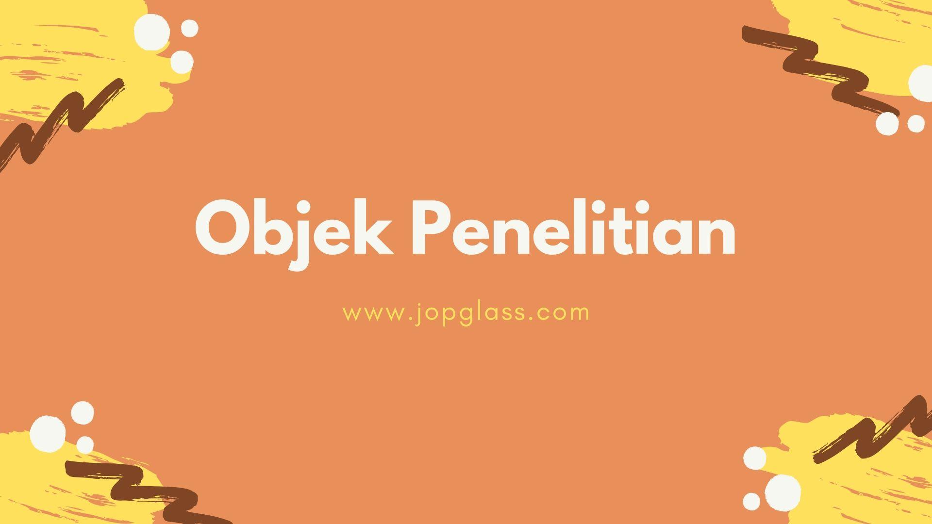 Objek Penelitian