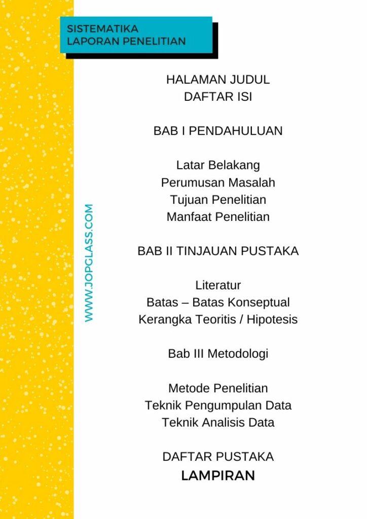sistematika laporan penelitian